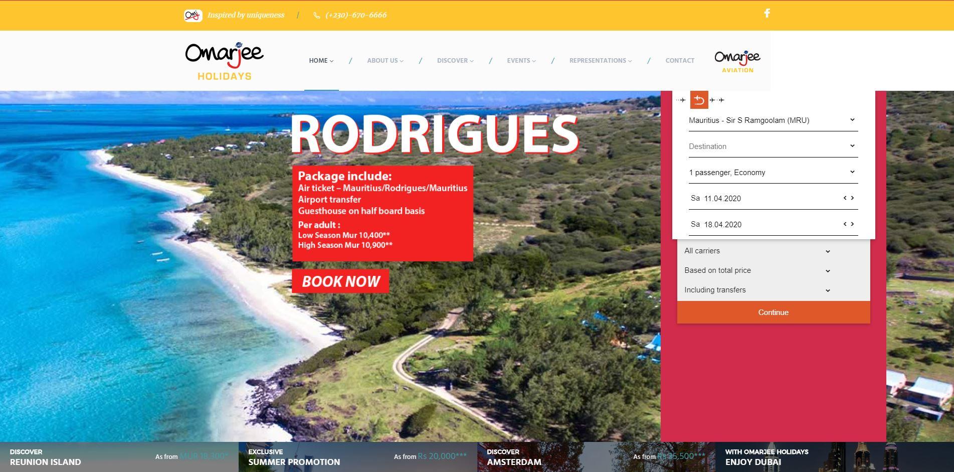 Omarjee-Holidays-Digital-Marketing-Mauritius-Ecommerce