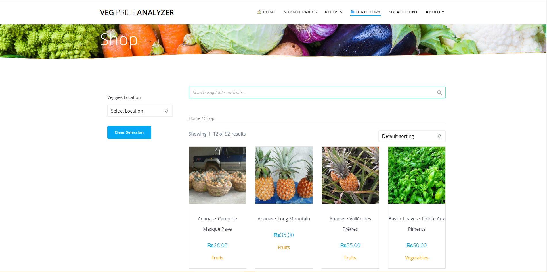 VEG-PRICE-ANALYZER-Digital-Marketing-Mauritius-E-Commerce